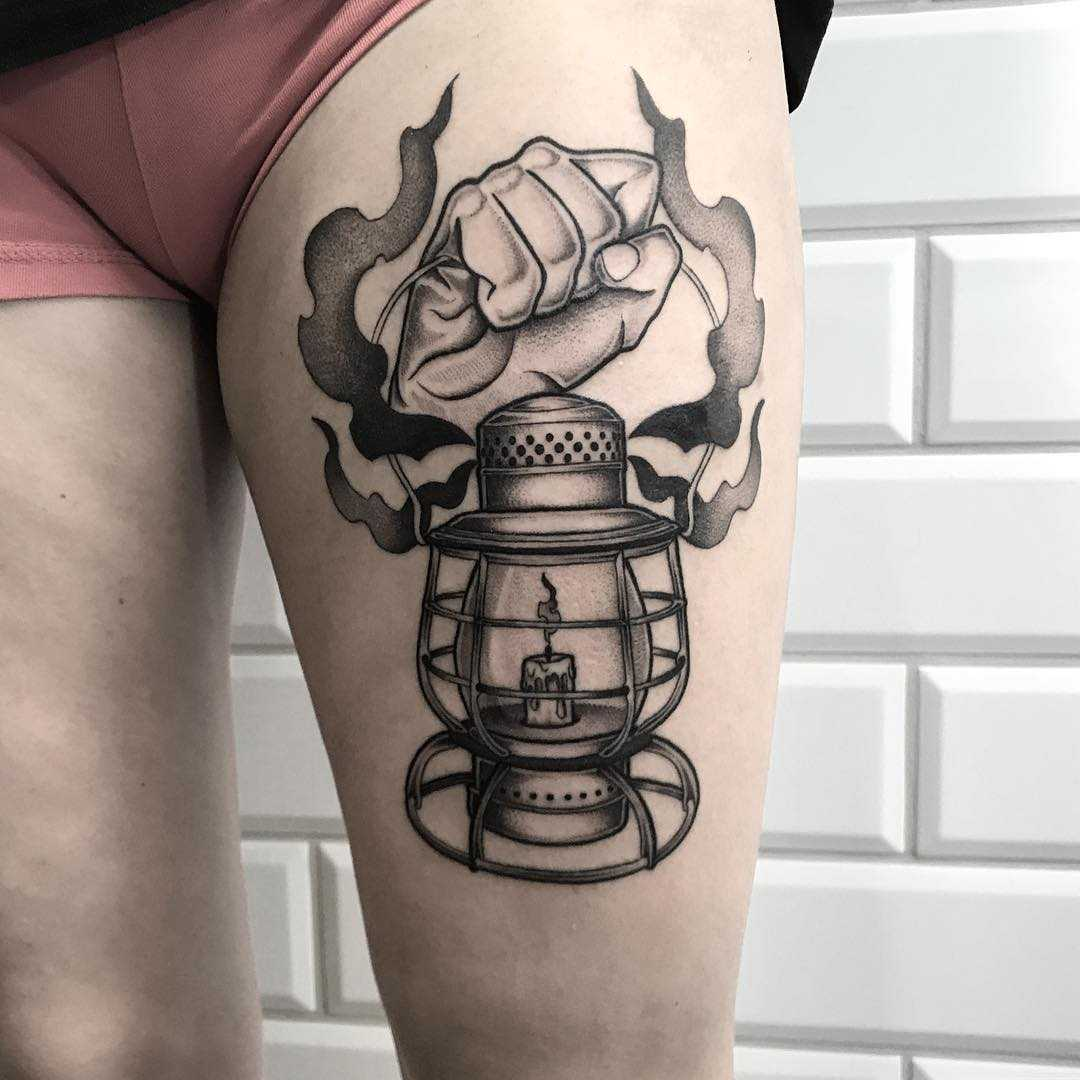 Lamp tattoo for a miner