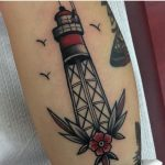 Lighthouse tattoo by Mikkel