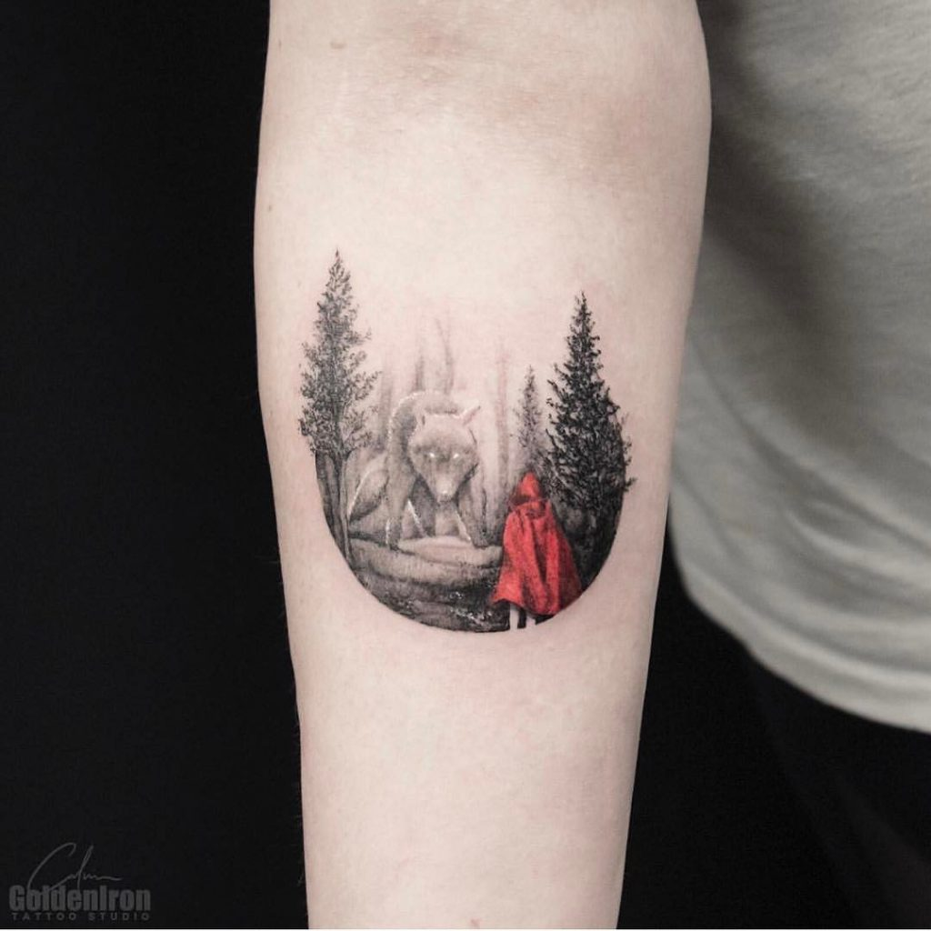 Little red in the woods by calvin grxsy