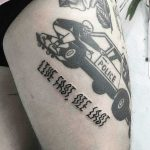 Live fast die last tattoo by Ink And Water