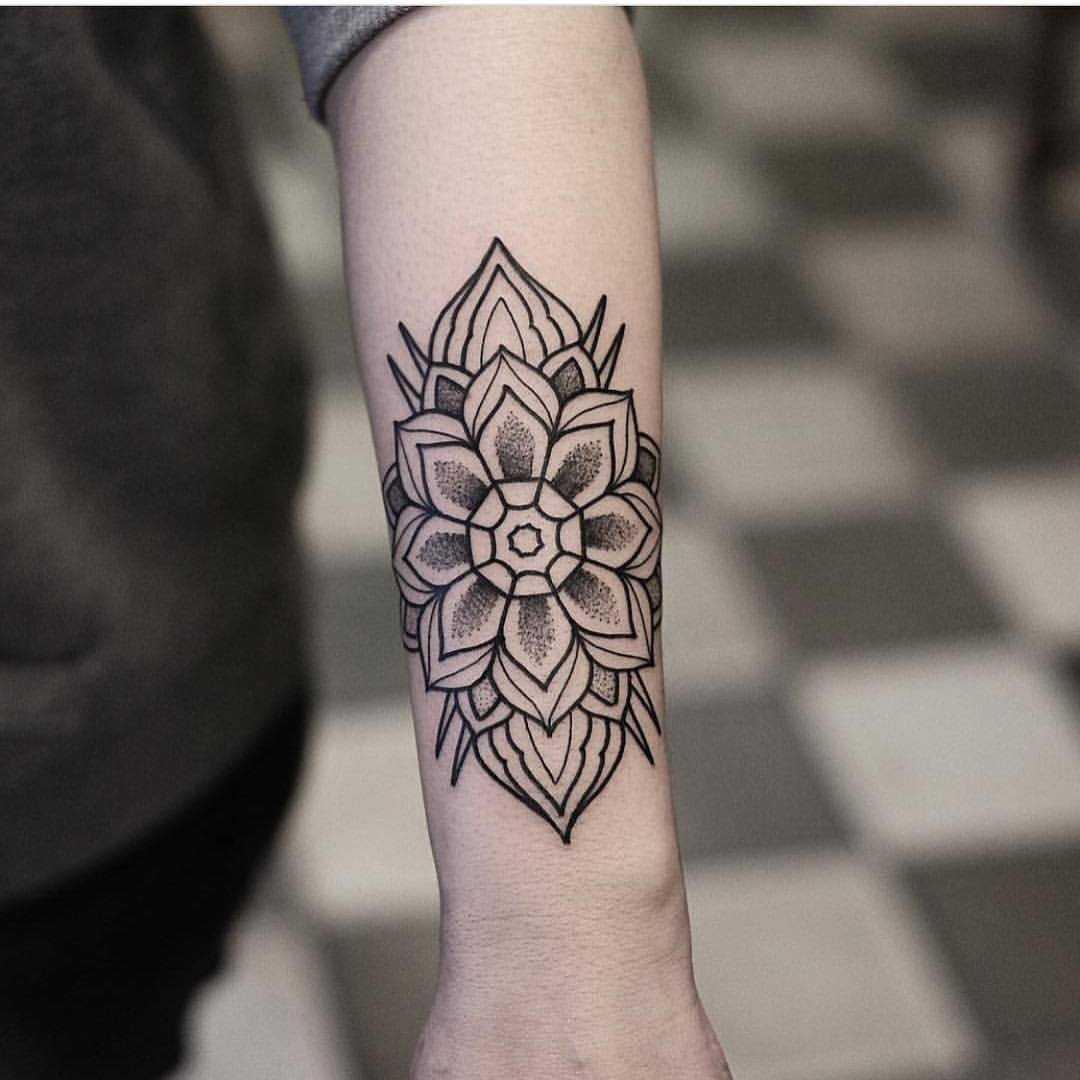 Mandala on the left forearm by jonas ribeiro