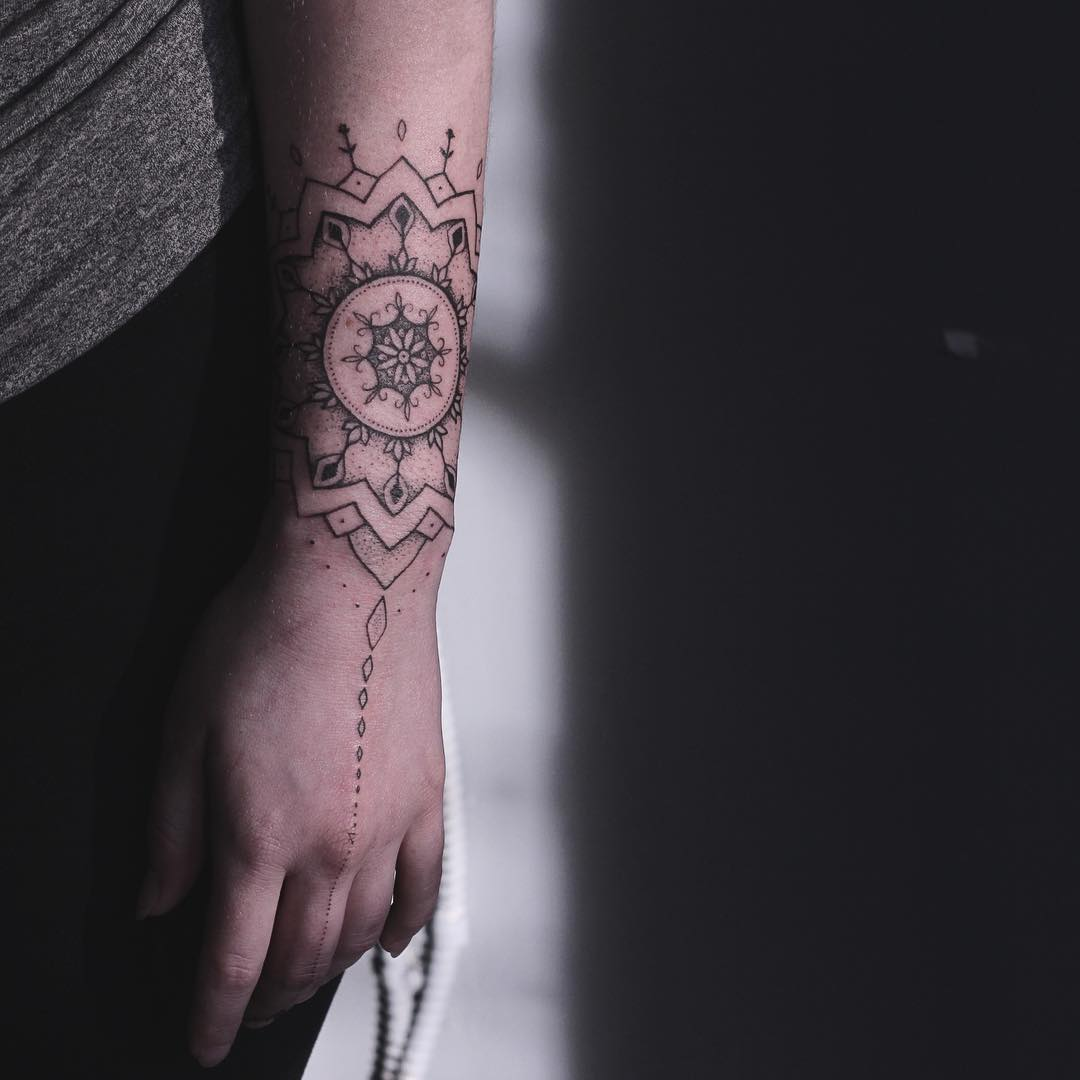 Mandala tattoo by Lindsay April