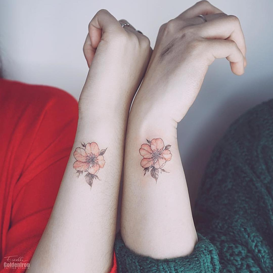 Matching florals by Estelle