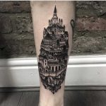 Medieval town tattoo by Dsarok