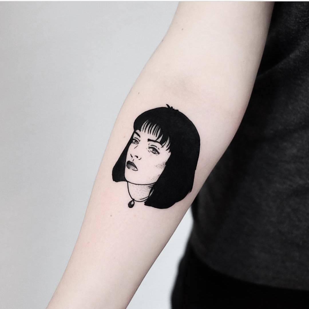 Mia Wallace tattoo by Jonas Ribeiro