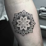 Mini mandala tattoo by Devon Lee