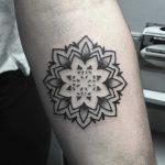 Mini mandala tattoo by Devon Lee