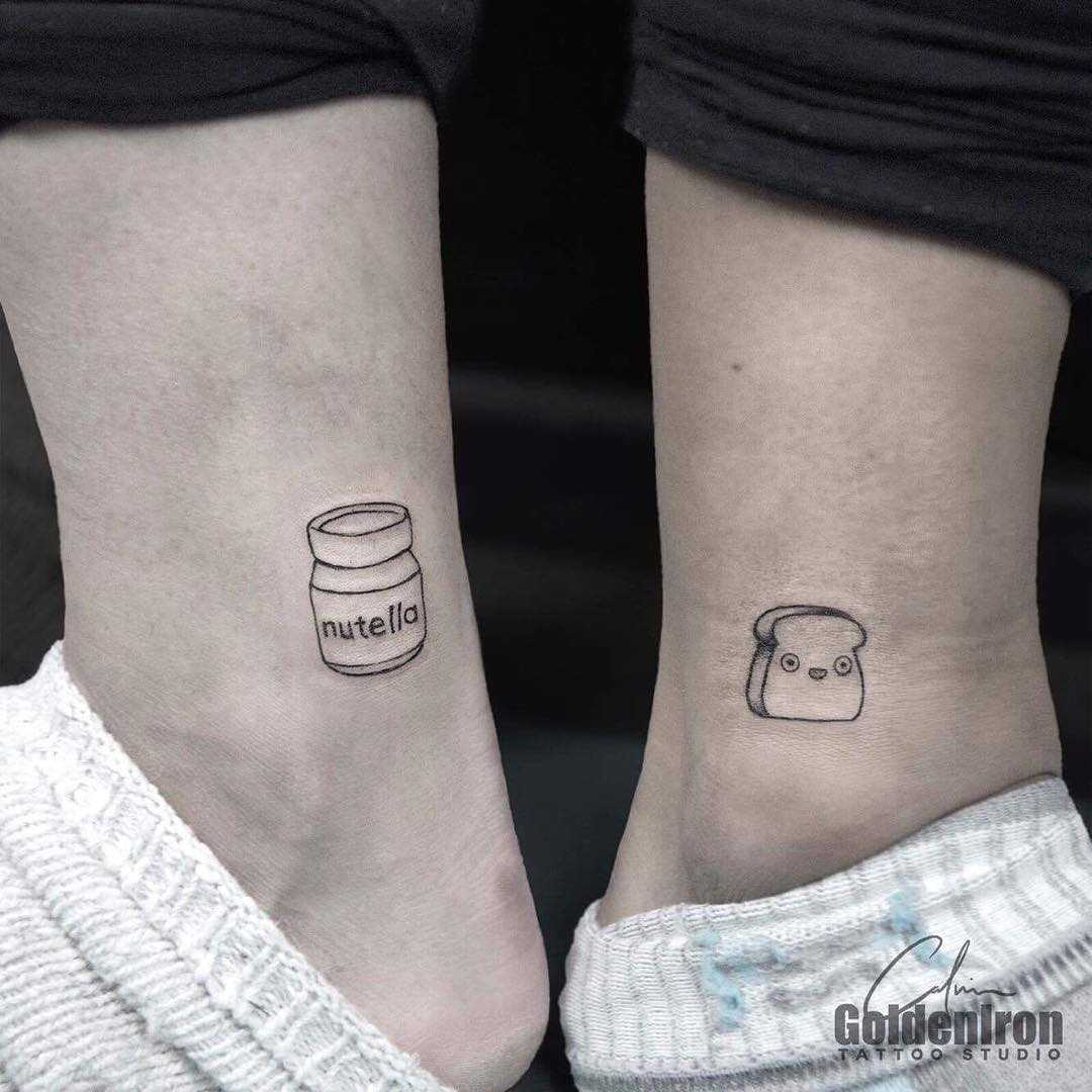 Nutella jar and toast tattoo by Calvin Grxsy