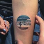 Ocean scenery tattoo by Eva Krbdk