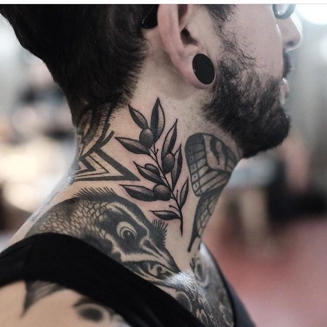 Olive branch tattoo by Jonas Ribeiro