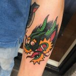 Party dragon tattoo