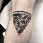 Pizza slice tattoo by Deborah Pow
