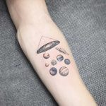 Planets and galaxy tattoo