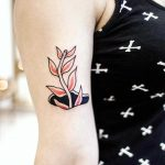 Plant in a hole tattoo