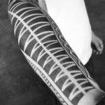 Polynesian style pattern tattoo