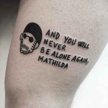 Quote tattoo by Jay Lester