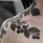 Raspberry bush tattoo