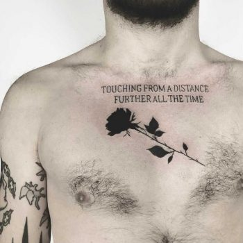 Rose and quote tattoo by Vera