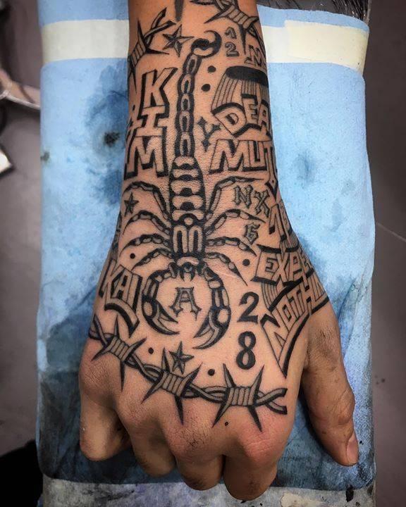 Scorpion tattoo by Luciano Calderon