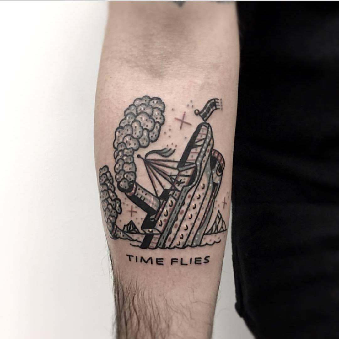 Sinking ship tattoo