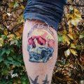Skull tattoo by alev sarı
