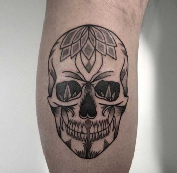 Skull tattoo by Slavena Vena