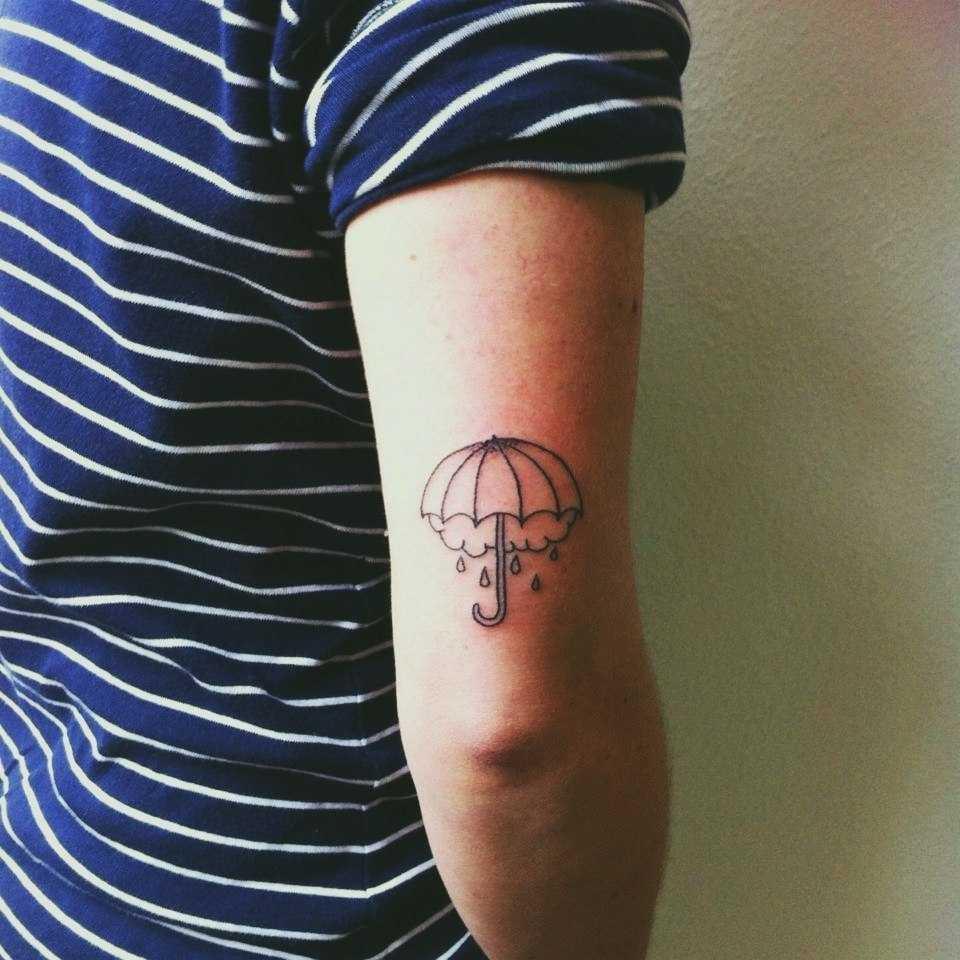 Small umbrella tattoo