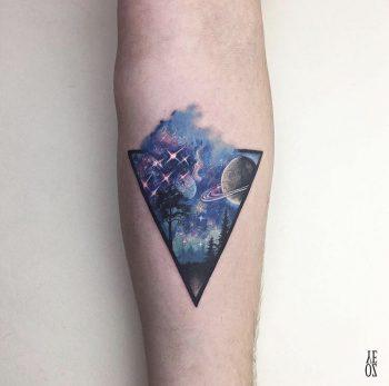 Space tattoo by Yelizoz