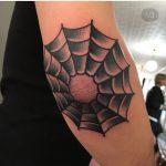 Spider web elbow tattoo by jeroen van dijk
