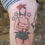 Summer babe tattoo by patryk hilton