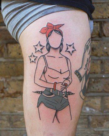 Summer babe tattoo by patryk hilton