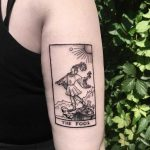 Tarot card tattoo by Bek
