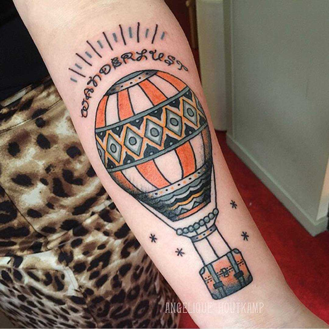 Traditional hot air balloon by Angelique Houtkamp