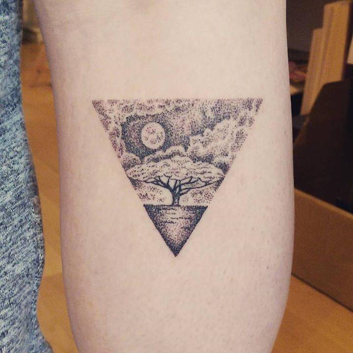 Triangular landscape by Sarah March