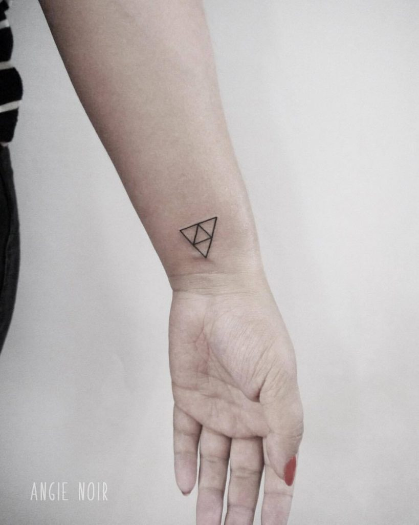 Triforce tattoo by Angie Noir