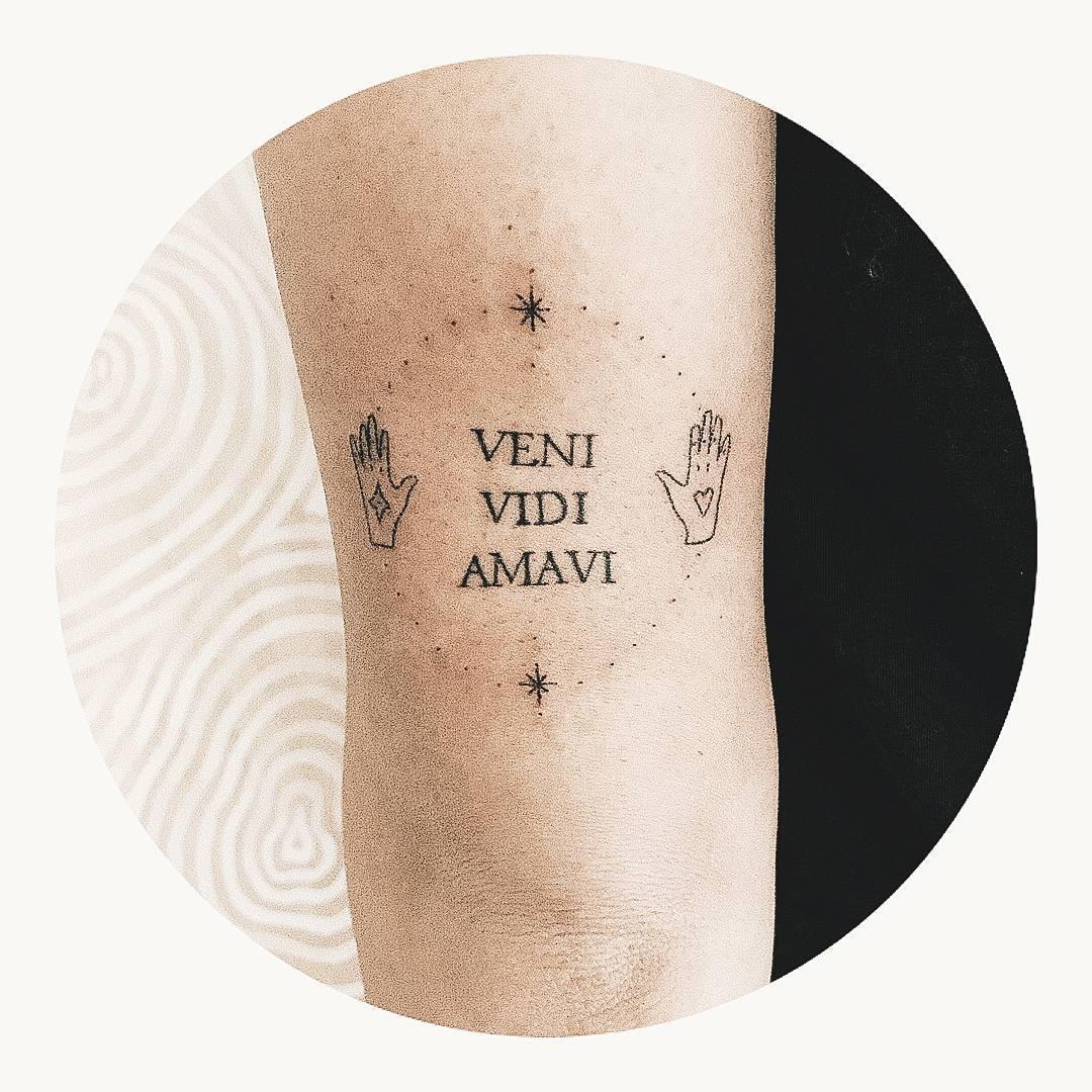 Veni, Vidi, Amavi tattoo by Kate