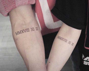Wedding anniversary tattoo