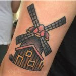 Windmill tattoo by angelique houtkamp
