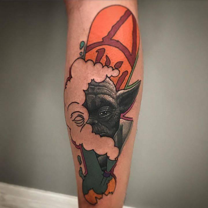 Yoda tattoo by rafael makarov dzikson