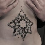 Beautiful and simple flower on the belly