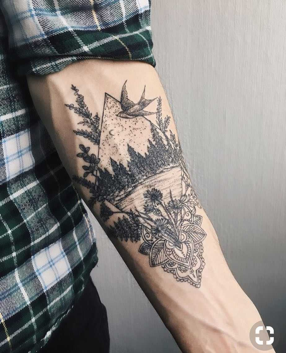 Beautiful Nature Scene Tattoo