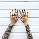 Beautiful tattoos on both forearms
