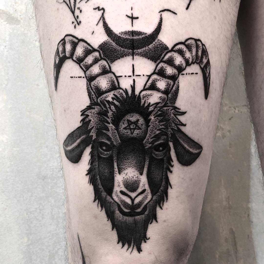 Black Phillip tattoo