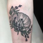 Bundt pan and lavender tattoo by The Korean Hammer