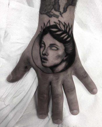 Calliope portrait tattoo