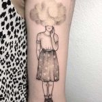 Cloudy girl tattoo by Anna Neudecker