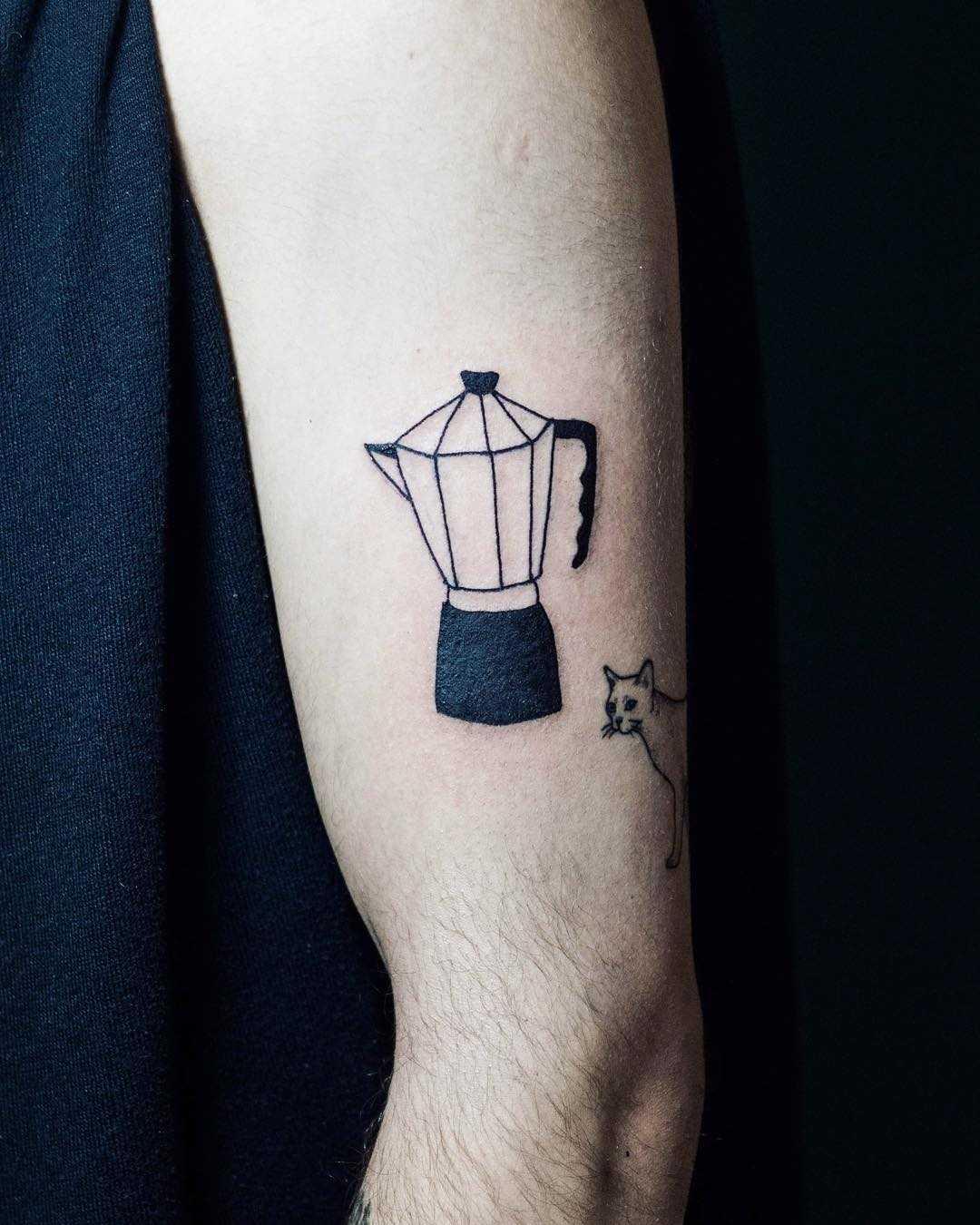 Coffee time tattoo