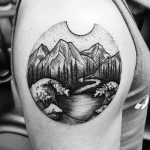 Cool landscape tattoo by Thomas Eckeard