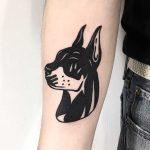 Doberman tattoo by Ssik Boy