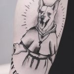 Dog monk tattoo